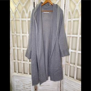 Soft Surroundings xl grey knit oversized cardigan